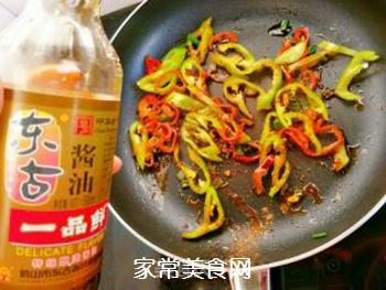 孜然香辣金针菇的做法步骤:6