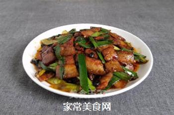 蒜苗回锅肉的做法步骤:9