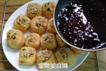 油豆腐酿的做法步骤:9