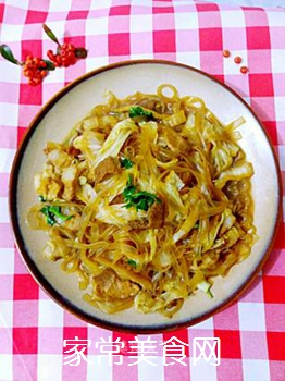 白菜炖粉条的做法步骤:10