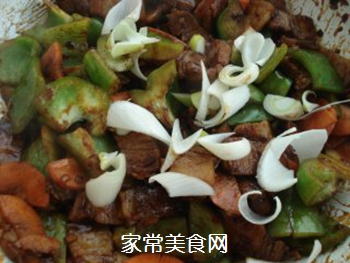 山寨回锅肉的做法步骤:7