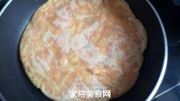 胡萝卜鸡蛋饼的做法步骤:6