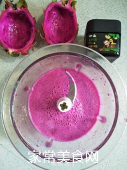 火龙果汁的做法步骤:5