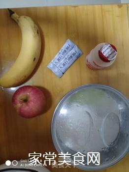 水果香蕉苹果奶昔的做法步骤:1