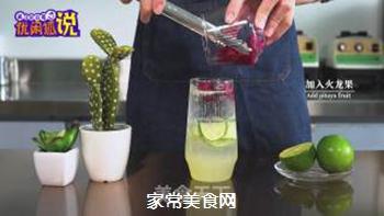 火龙果气泡水的做法步骤:9