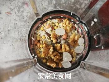 荞麦花生核桃黄豆浆的做法步骤:6