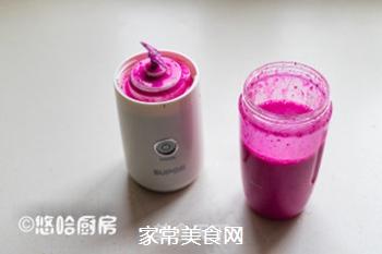 火龙果奶昔的做法步骤:6