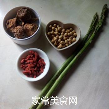 芦笋姬松茸液的做法步骤:1