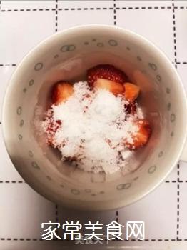 草莓牛奶的做法步骤:3