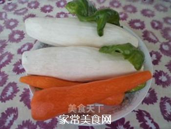 杏鲍菇炒胡萝卜的做法步骤:1