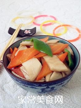 杏鲍菇炒胡萝卜的做法步骤:11