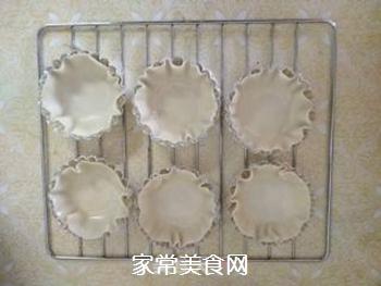 饺子皮蛋挞的做法步骤:3
