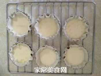 饺子皮蛋挞的做法步骤:4