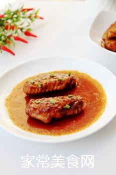番茄酱焖鸡翅的做法