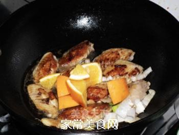橙香可乐鸡翅的做法步骤:8