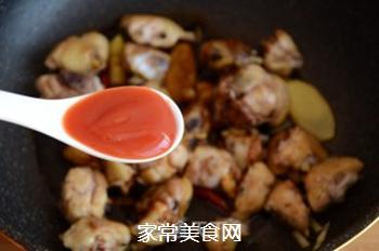 红焖栗子鸡的做法步骤:9