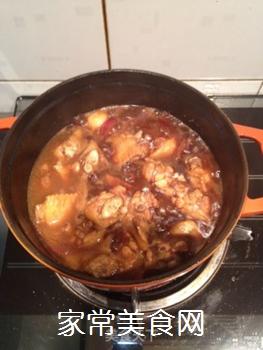 红烧鸡翅盖饭的做法步骤:6