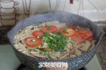 菌菇汤面的做法步骤:15