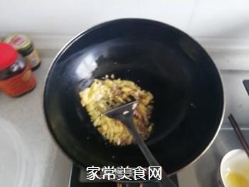 韭菜炒饭的做法步骤:4