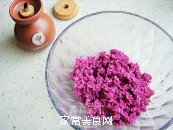 紫薯花瓣寿司的做法步骤:4
