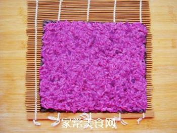 紫薯花瓣寿司的做法步骤:10