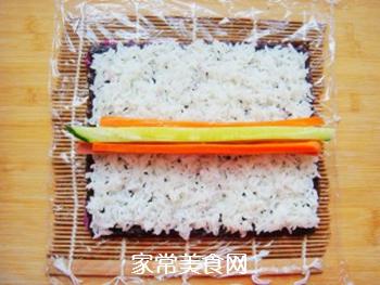 紫薯花瓣寿司的做法步骤:13