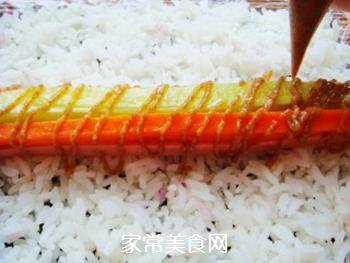 紫薯花瓣寿司的做法步骤:14