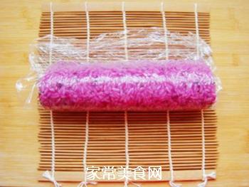 紫薯花瓣寿司的做法步骤:16