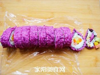 紫薯花瓣寿司的做法步骤:17