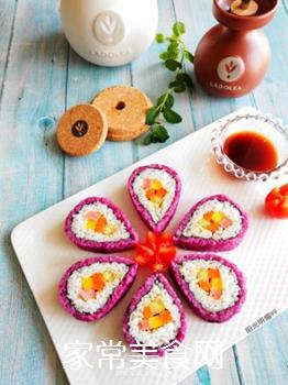 紫薯花瓣寿司的做法步骤:18