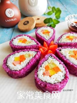 紫薯花瓣寿司的做法步骤:19