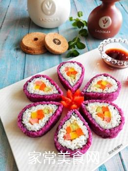 紫薯花瓣寿司的做法步骤:20