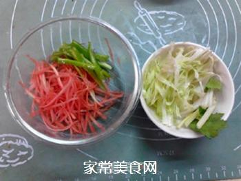 #花样美食#时蔬拌方便面的做法步骤:4