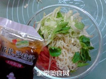 #花样美食#时蔬拌方便面的做法步骤:6