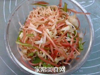 #花样美食#时蔬拌方便面的做法步骤:7