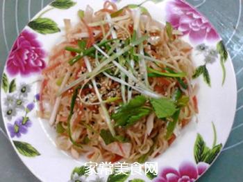 #花样美食#时蔬拌方便面的做法步骤:8