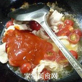 香干圣女果炒鸡胸肉的做法步骤:10