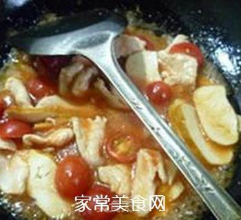 香干圣女果炒鸡胸肉的做法步骤:11