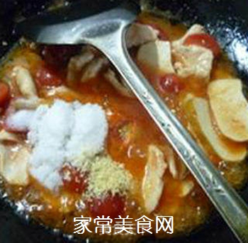 香干圣女果炒鸡胸肉的做法步骤:12