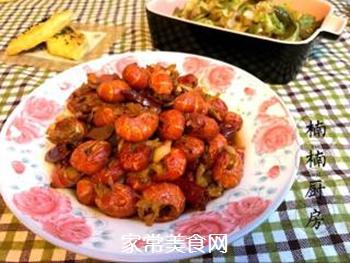 辣炒龙虾尾的做法步骤:7