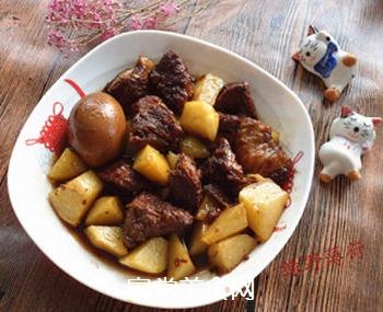 土豆烧牛肉的做法步骤:9