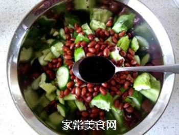 花生米拌黄瓜的做法步骤:10