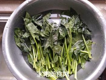 菠菜拌粉丝的做法步骤:1