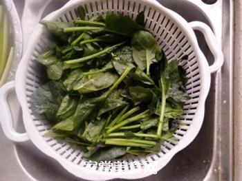 菠菜拌粉丝的做法步骤:5