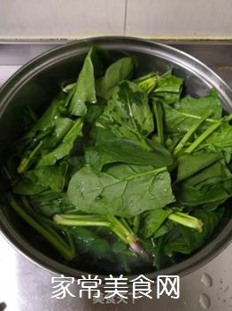 搅拌菠菜粉丝的做法步骤:3