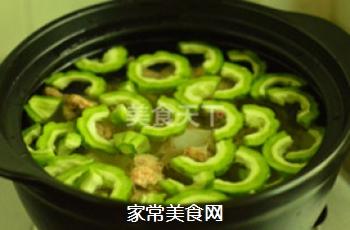 苦瓜黄豆猪骨汤的做法步骤:6