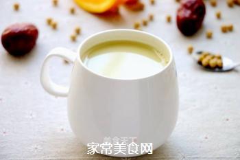 红枣香橙豆浆的做法