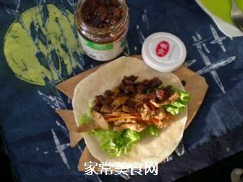 香菇酱卷春饼的做法步骤:8