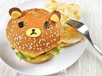 #信任之美#轻松熊日式汉堡的做法