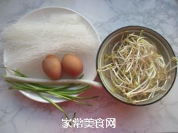 粉丝炒鸡蛋的做法步骤:1